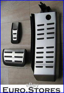 Audi A6 S6 Pedal Caps Set With Footrest Stainless Steel RS6 Automatic Gearbox