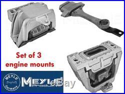 Meyle Engine & Gearbox Mount Set Of 3 Golf Mk4 1.9tdi 6 Speed Inc Gttdi